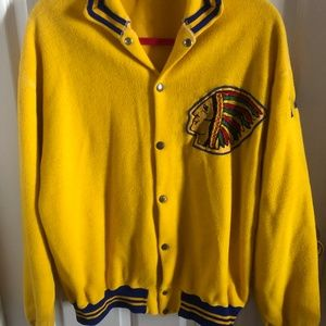 Vintage Varsity Jacket with hand sewn details